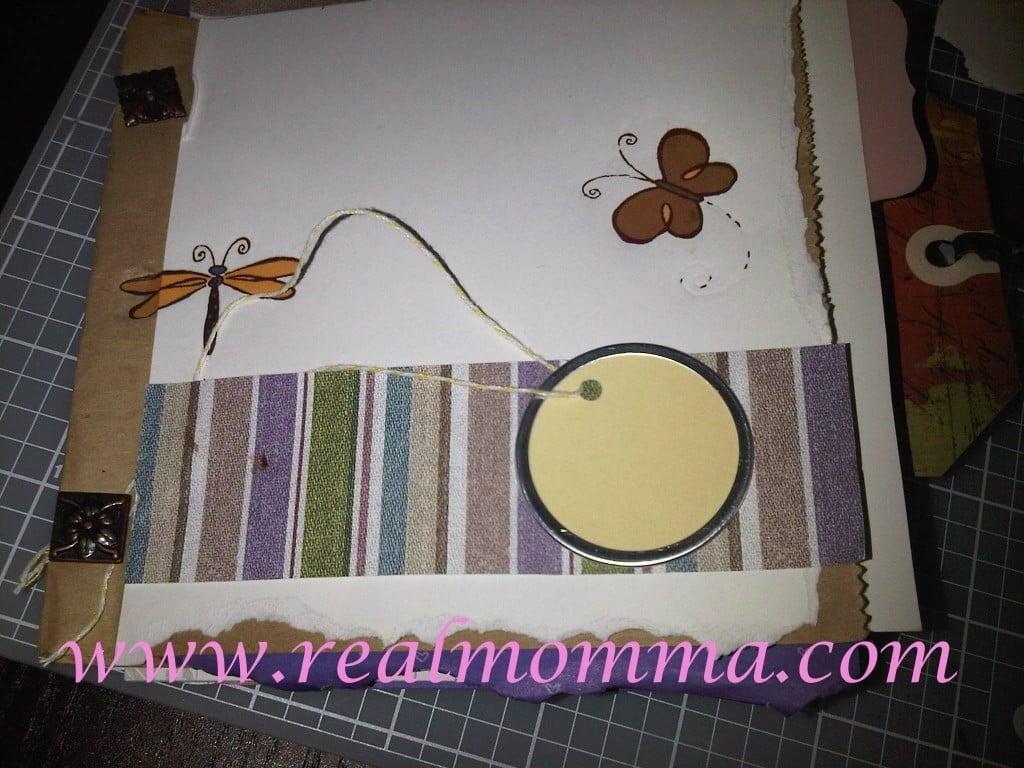 finished paperbag scrapbook