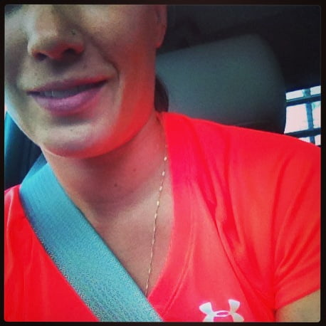 Headed to softball with my Under Armour gear!!