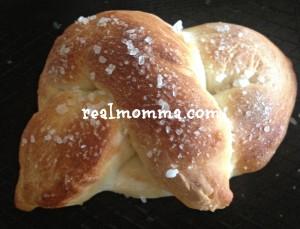 homemade mini salted pretzel