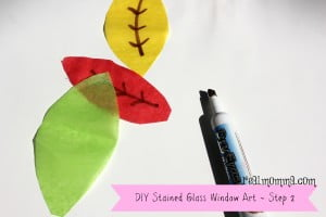 DIY Stained Glass Window Art step 2