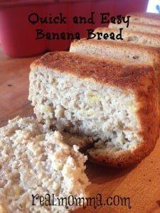 quick and easy banana bread