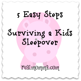5 Easy Steps surviving a kids sleepover