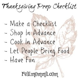 Thanksgiving Prep Checklist