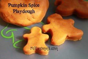 homemade playdough pumpkin spice