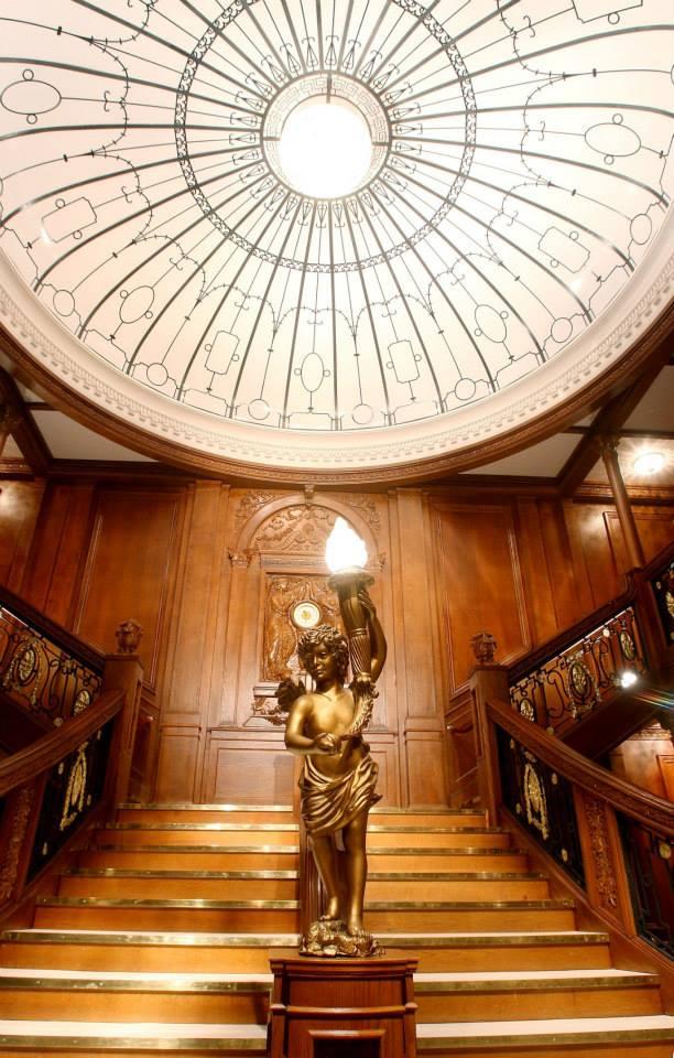 Titanic Artifact Exhibition Grand Staircase.