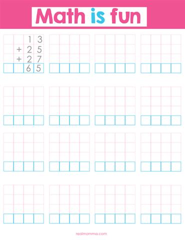 math is fun printable
