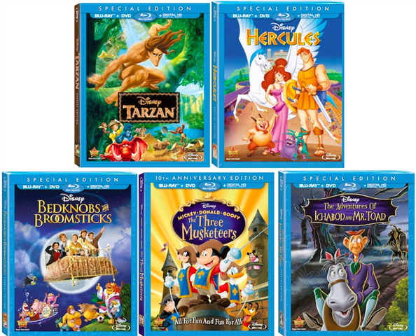 Song Clips ~ Disney Classics on Blu-ray Today