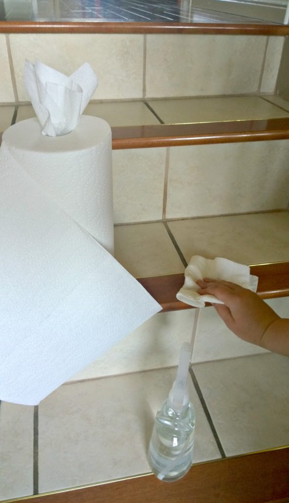 Cleaning with Tiger Towel