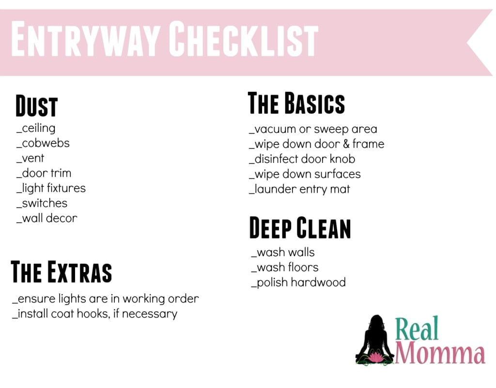 Entryway Checklist