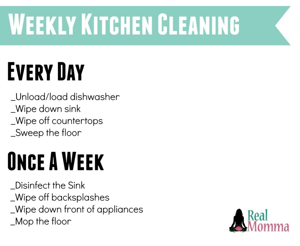 Weekly Kitchen Cleaning