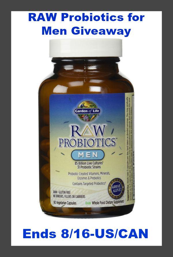 Garden of life raw probiotics for men giveaway real momma - Garden of life raw probiotics men ...