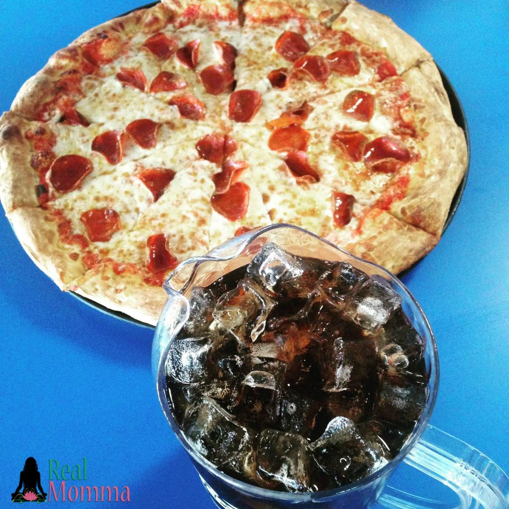 pizza and soda