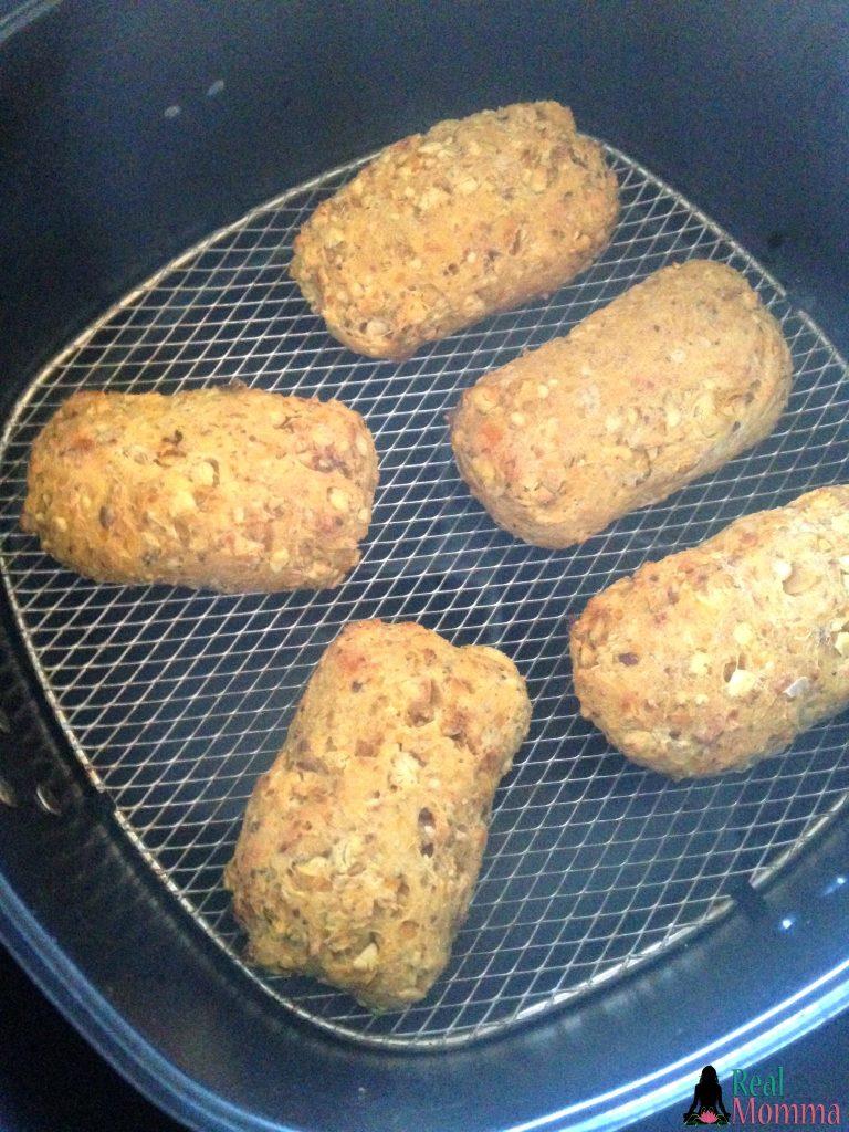 Airfryer sweet potato chickpea burgers