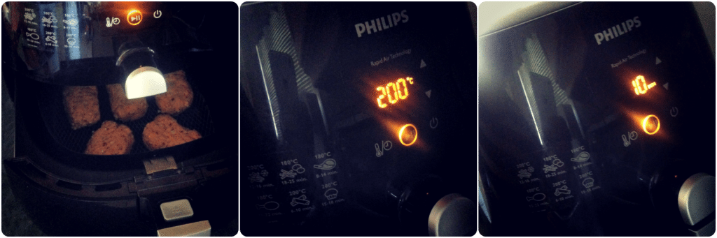 Cooking in the philips airfryer