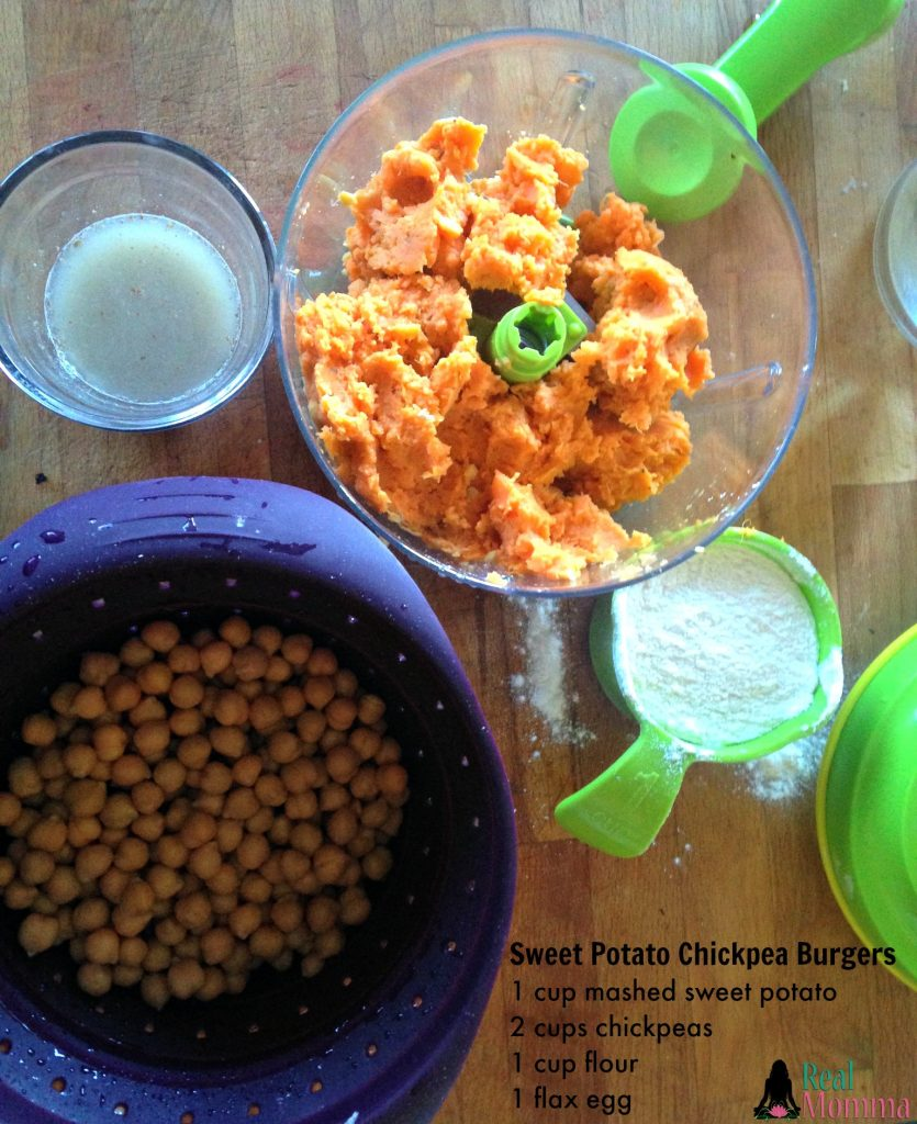 sweet potato chickpea burger recipe