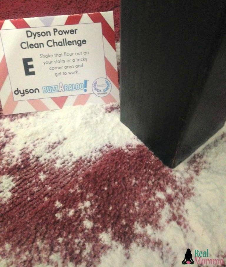 Dyson Power Clean Flour Challenge