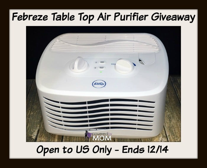 Febreze table top air purifier button