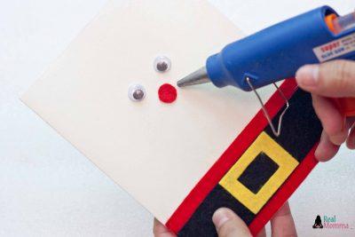 DIY 3D Santa Claus Card step 10