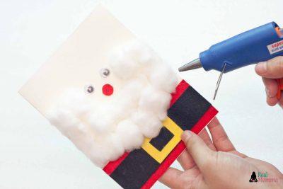 DIY 3D Santa Claus Card step 13
