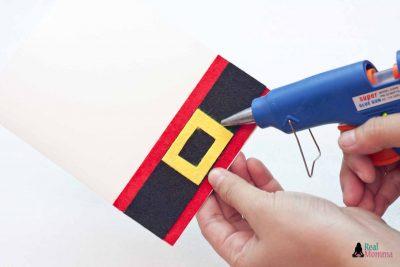 DIY 3D Santa Claus Card step 7
