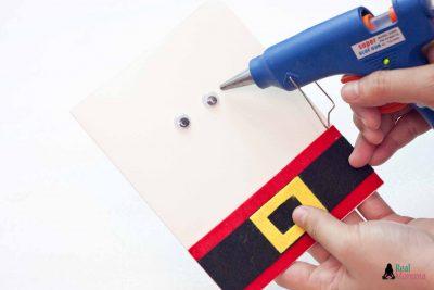 DIY 3D Santa Claus Card step 8