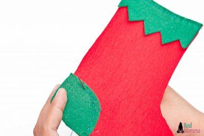 DIY Christmas Stocking for Gift Giving step 11