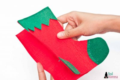 DIY Christmas Stocking for Gift Giving step 13