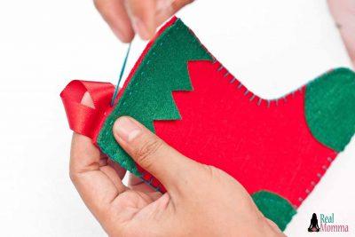 DIY Christmas Stocking for Gift Giving step 17
