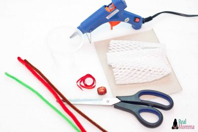 DIY Upcycled Snow Globe supplies