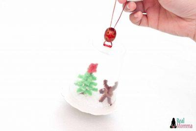 DIY Upcycled Snow Globe
