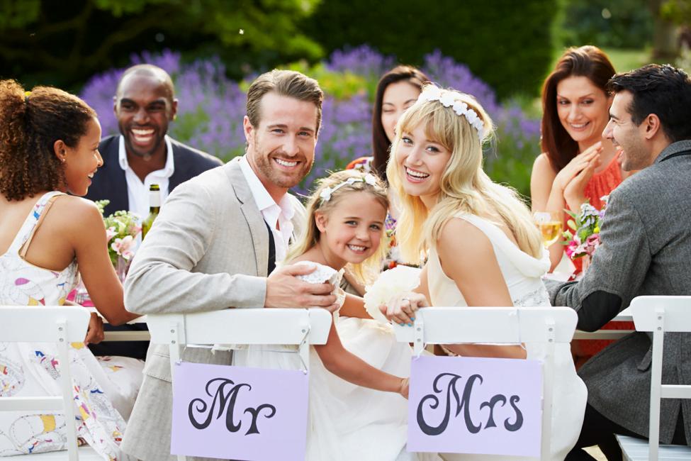 kids welcome wedding