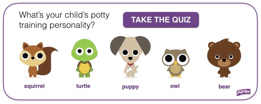 Pull Ups Potty Training Personality Quiz