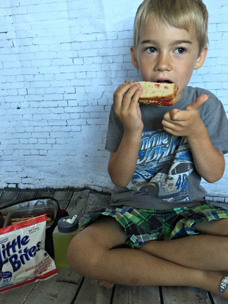 Dustin loves PBJ Bites