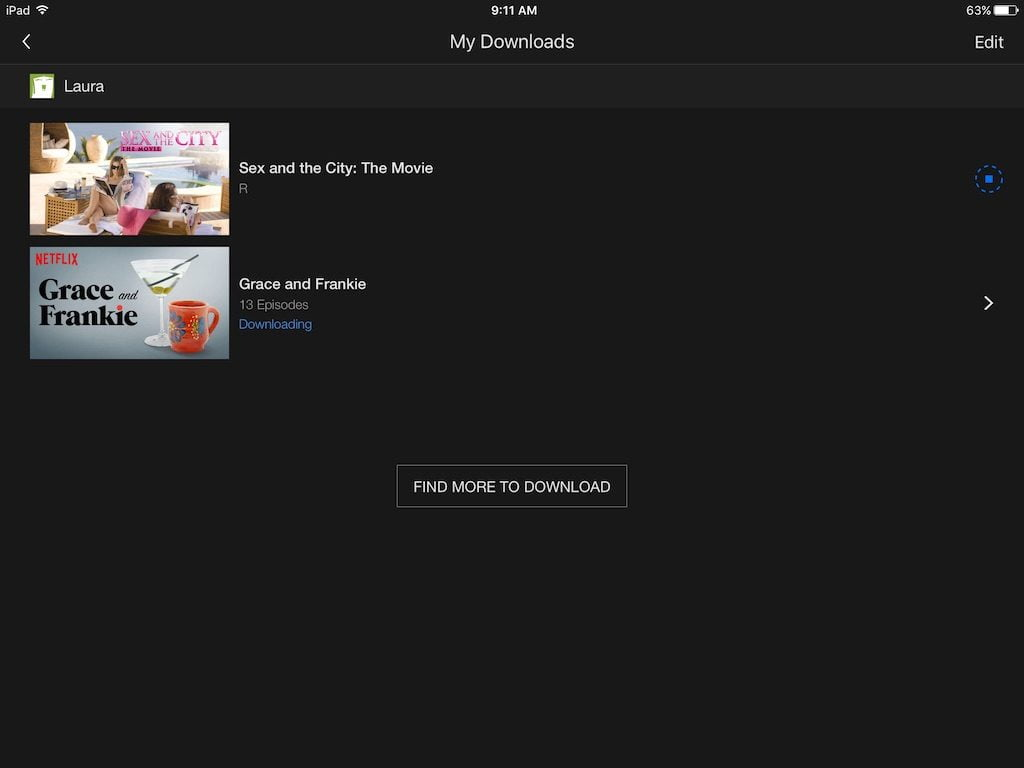My Netflix Downloads