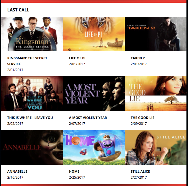 Netflix February Last Call