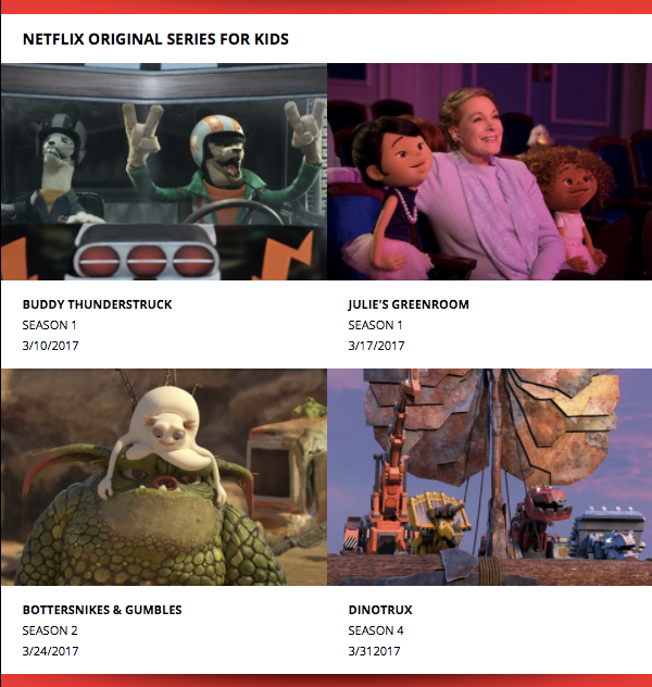 March Netflix Originals for Kids