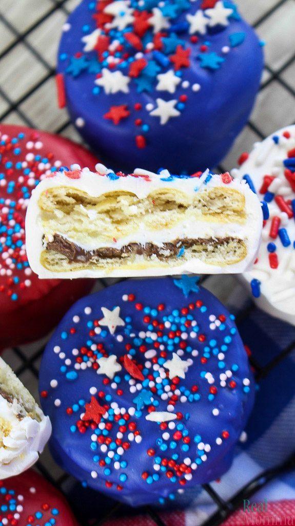 Patriotic Nutella Ritz S'mores Recipe