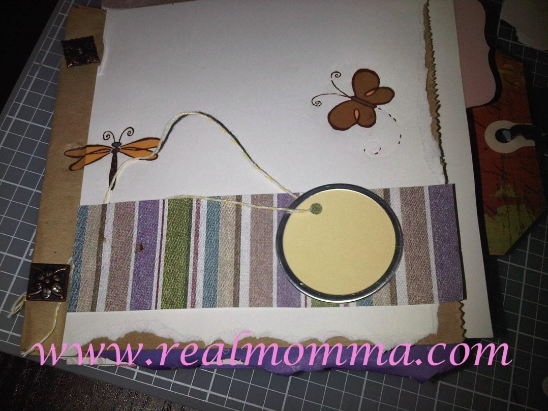 finished paperbag scrapbook