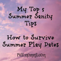 Summer Sanity top 5 Play Date Tips