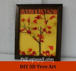 DIY At Home 3D Tree Art for The First Day of Fall