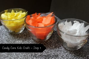 Candy Corn Kids Craft Step 1