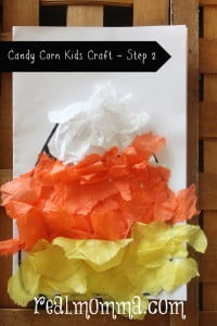 Candy Corn Kids Craft Step 2