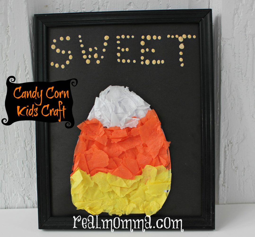 candy corn kids craft