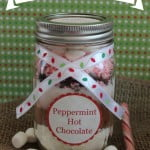 quick and easy hot chocolate in a jar