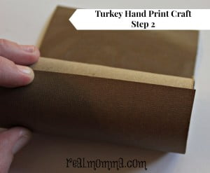 Turkey Hand Print Craft Step 2