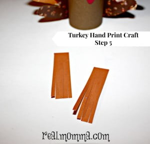 Turkey Hand Print Craft Step 5