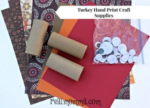 Turkey Hand Print Craft Supplies