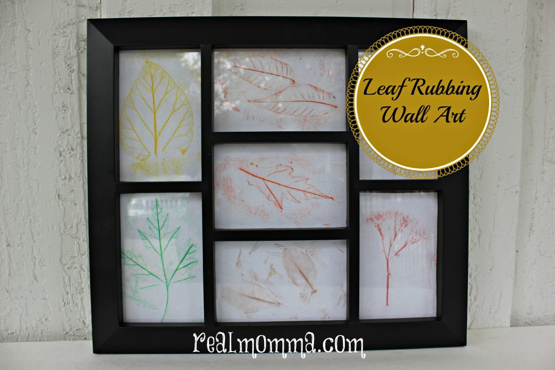 leaf rubbing wall art kids craft