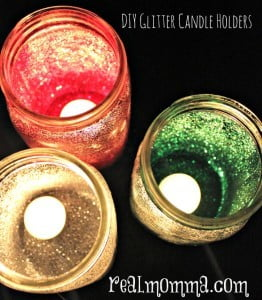 DIY Glitter Candle Holders at Home