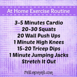 Quick Fitness Tip At Home Routine